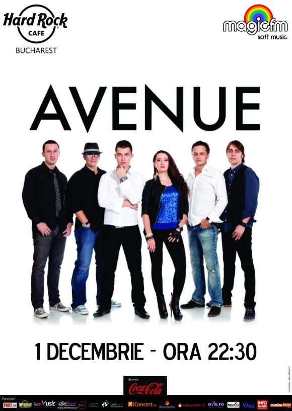 Concert Avenue in Hard Rock Cafe din Bucuresti