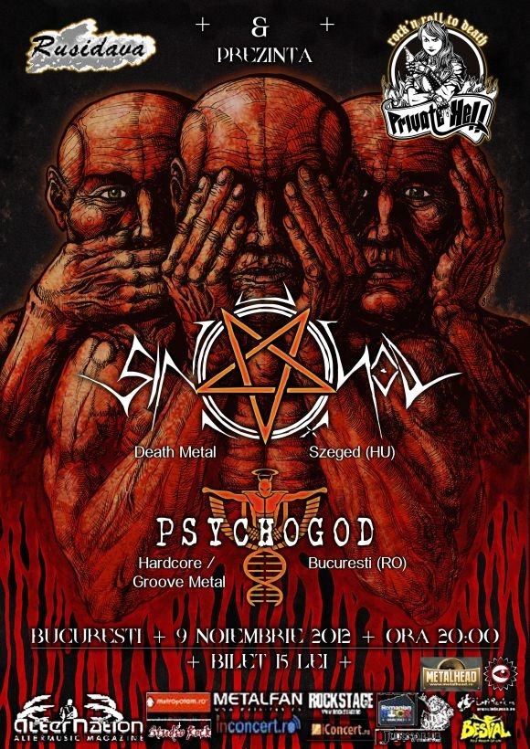 Concert Sin Of God si Psychogod in Private Hell Rock Club
