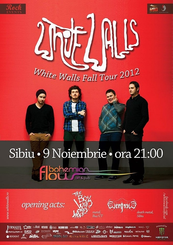 Concert White Walls, The Boy Who Cried Wolf si EvergreeD in Bohemian Flow din Sibiu