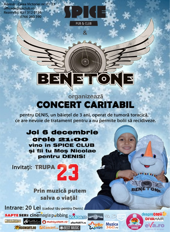 Concert caritabil Benetone Band in Spice Club