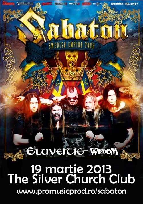 Concertul Sabaton - Eluveitie - Wisdom in The Silver Church este aproape Sold Out