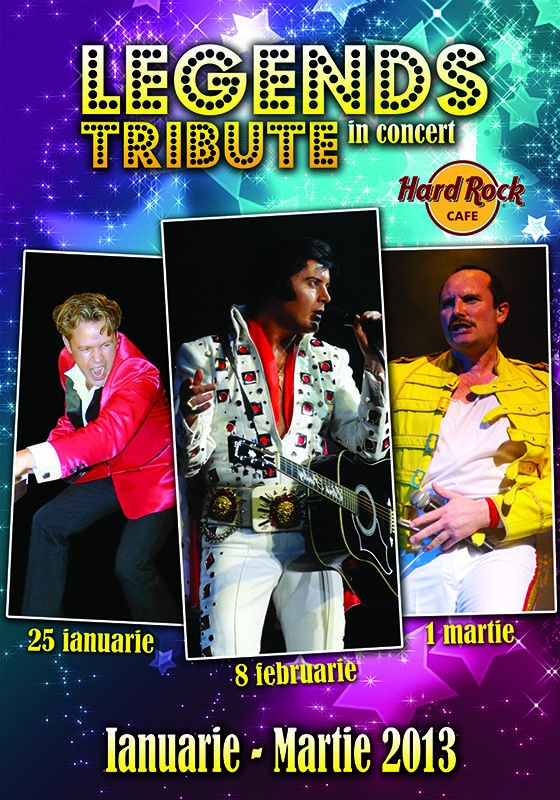 JERRY LEE LEWIS, ELVIS PRESLEY & FREDDIE MERCURY - Legends Tribute In Concert la Hard Rock Cafe