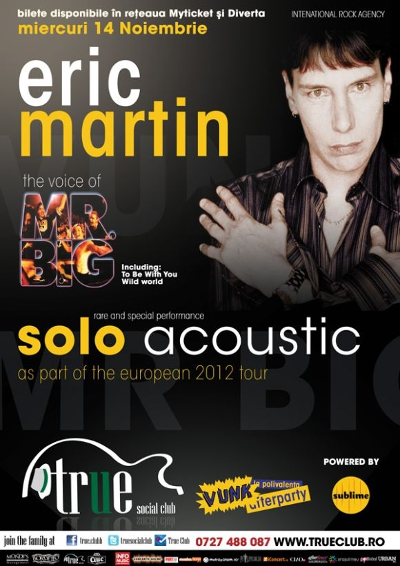 Wild Night cu Eric Martin in True Club