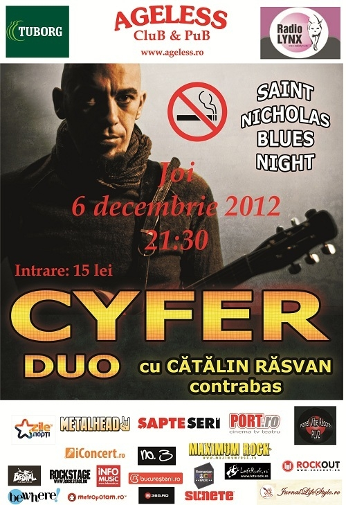 Saint Nicholas Blues Night cu Cyfer si Catalin Rasvan in Ageless Club