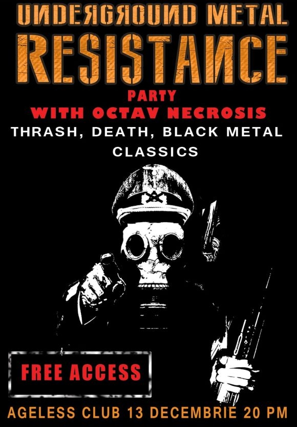 Underground Metal Resistance Party in Ageless Club