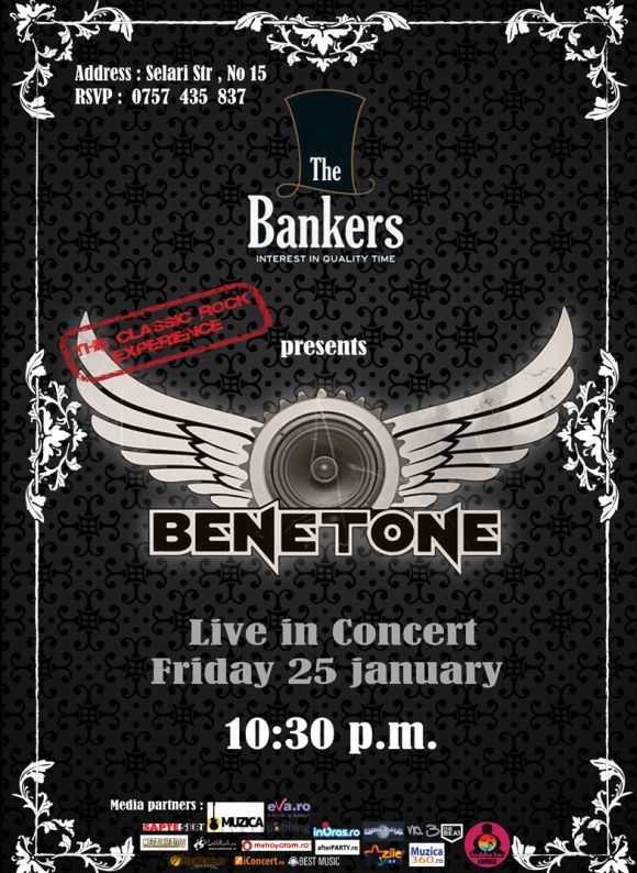 Concert BENETONE Band in club The Bankers din Bucuresti