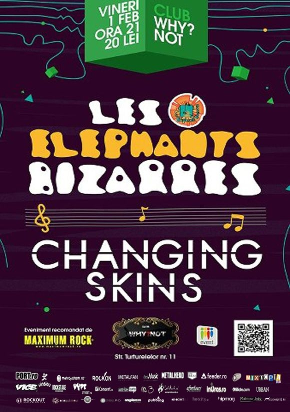 Concert Les Elephants Bizarres si Changing Skins in Club Why?Not