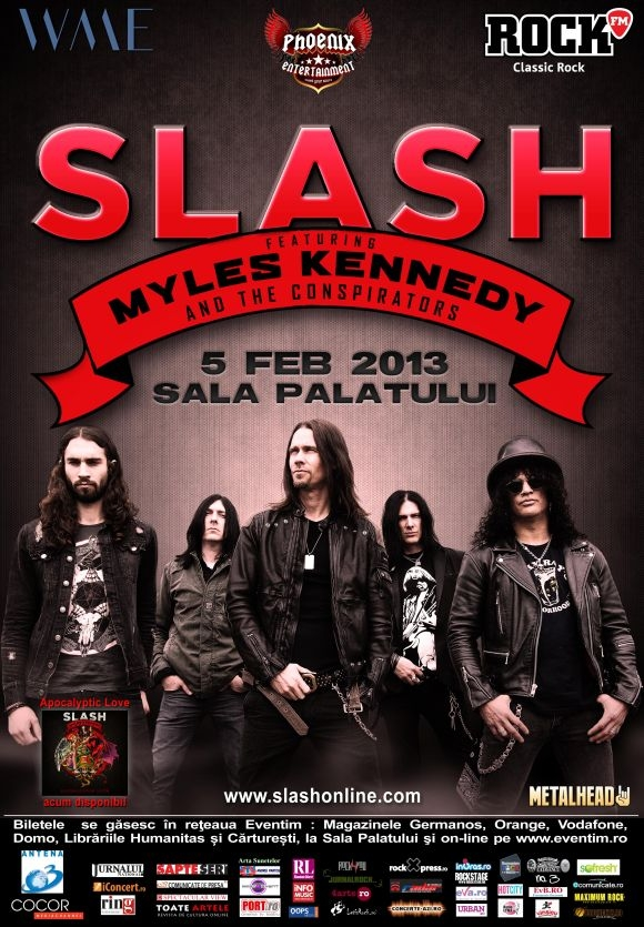 Slash feat. Myles Kennedy and The Conspirators: Categoria VIP epuizata!