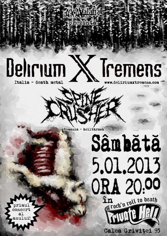 Concert Delirium X Tremens si Spinecrusher in club Private Hell