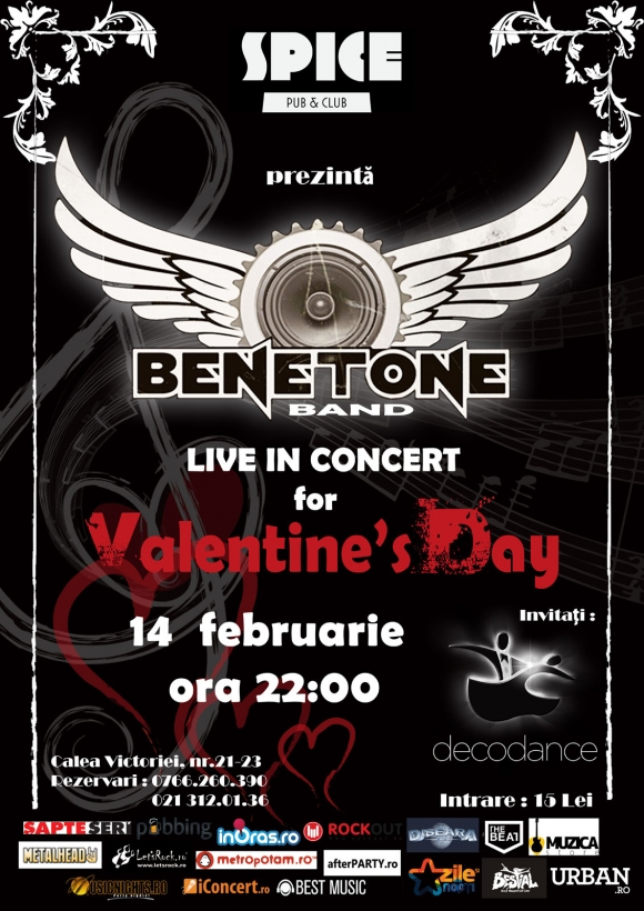 Concert Benetone Band in Spice Club de Valentine's Day