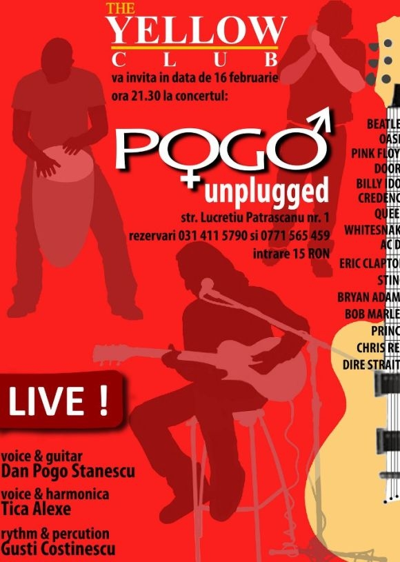 Concert Pogo Unplugged in Yellow Club din Bucuresti