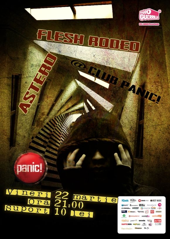 Concert Astero si Flesh Rodeo in Panic Club din Bucuresti