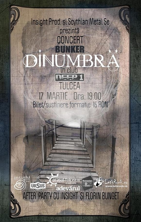Concert DinUmbra si Bunker in Club Deep 1 in Tulcea