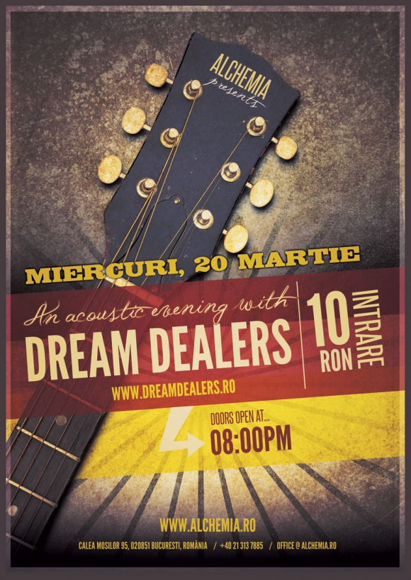 Concert acustic Dream Dealers in Alchemia