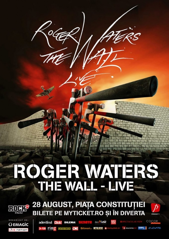Posterul evenimentului Roger Waters din Romania