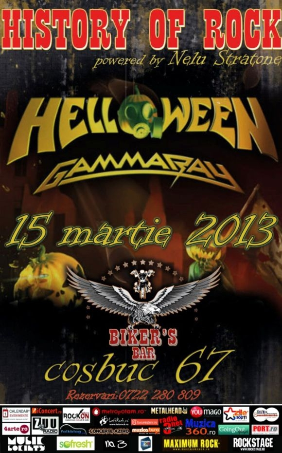 Trupa Helloween la History of Rock in Biker's Bar
