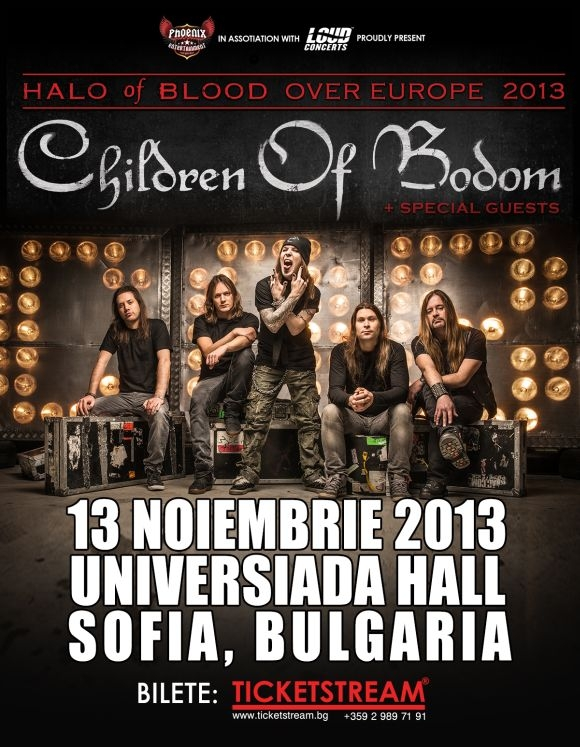 Phoenix Entertainment anunta concertul Children of Bodom and special guests la Sofia