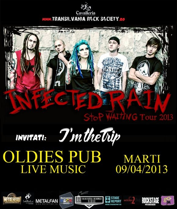 Concert I'm The Trip si Infected Rain in Oldies Pub-Live Music