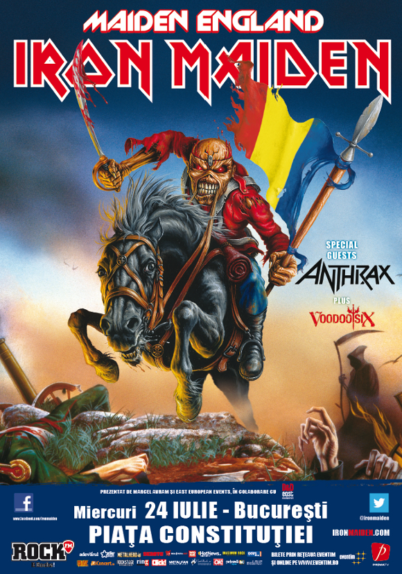 Iron Maiden, VOODOO SIX și ANTHRAX