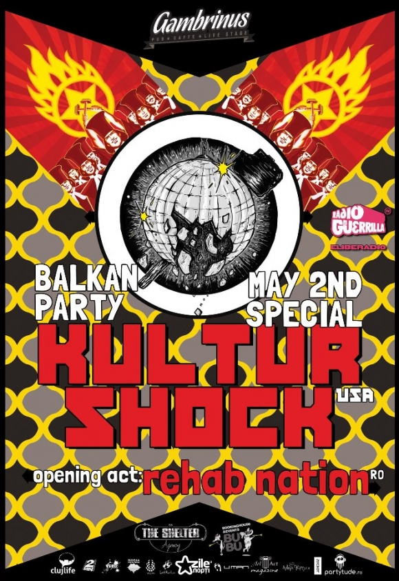 Concert Kultur Shock si Rehab Nation in Gambrinus Pub