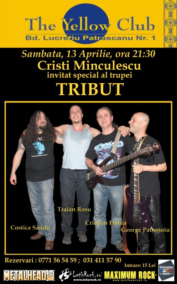 Concert Tribut si Cristi Minculescu in Yellow Club