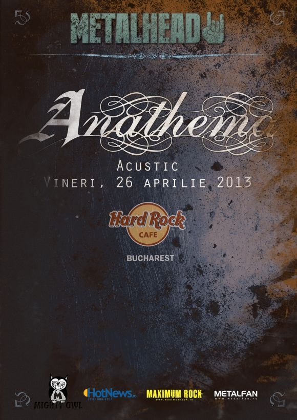 Concert acustic Anathema in Hard Rock Cafe din Bucuresti