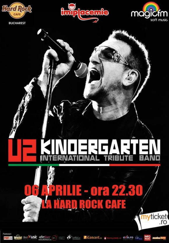Concert tribut U2 cu Kindergarten in Hard Rock Cafe