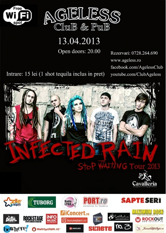 Infected Rain ajung in Ageless Club cu turneul Stop Waiting Tour