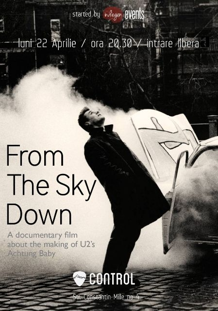 "Proiectie U2 - ""From the Sky Down"" in Club Control"