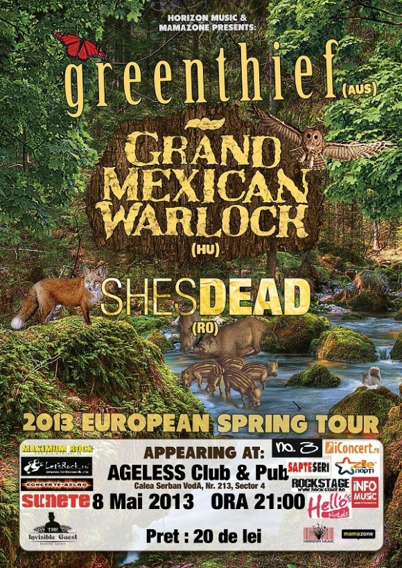 Concert Greenthief, Grand Mexican Warlock si Shesdead in Ageless Club