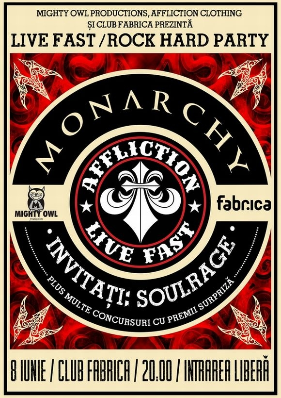 Concert Monarchy si Soul Rage in club Fabrica