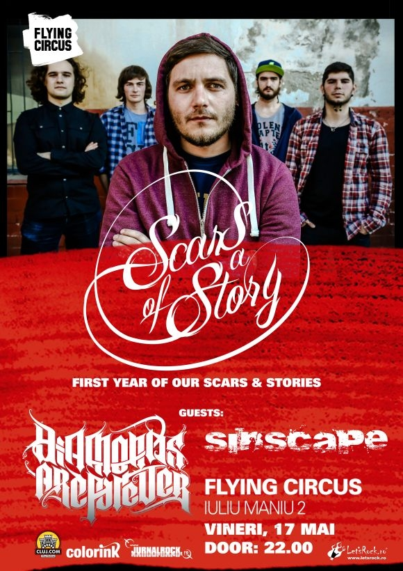 Concert Scars of a Story - un an de existenta in Flying Circus Pub Cluj-Napoca