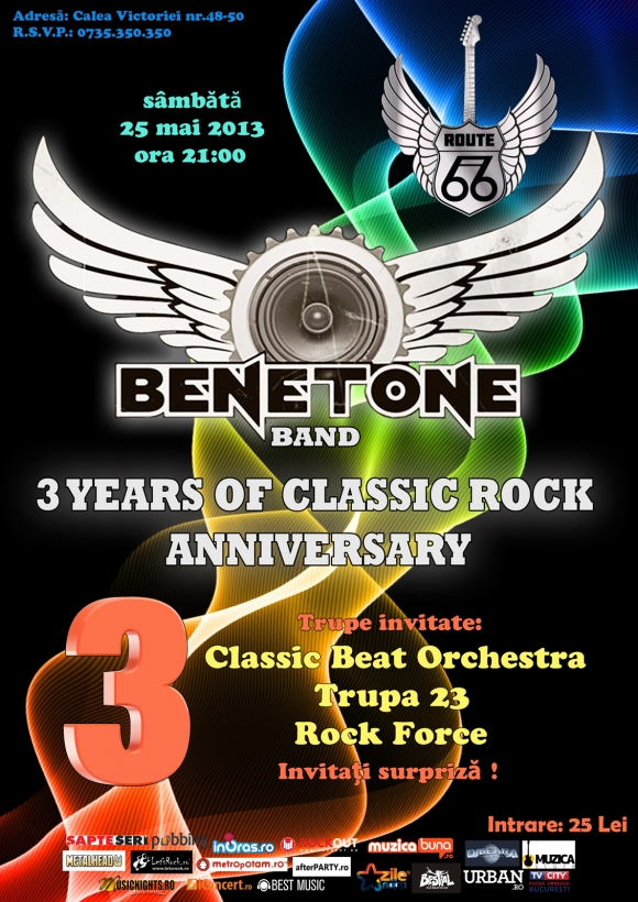 Concert aniversar Benetone Band in Route 66