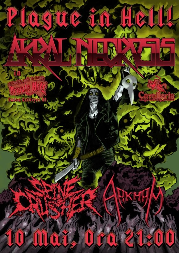 Plague in Hell cu Akral Necrosis, Spinecrusher si Arkham in Private Hell