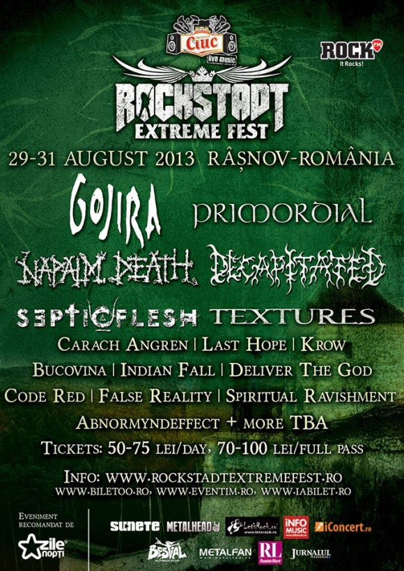 ROCKSTADT EXTREME FEST: Rasnov devine capitala metalelor grele si a distractiei in ultimul week-end din august