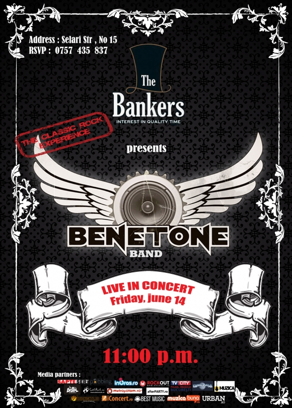 Concert Benetone Band in The Bankers, 11 iunie 2013