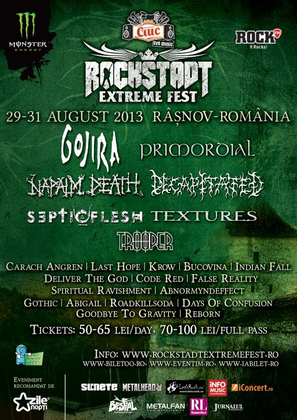 Inca o zi de Rockstadt Extreme Fest: metal made in Romania pe 29 august la Rasnov