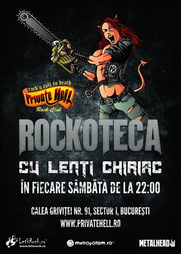 Rockoteca by Lenti Chiriac in Private Hell din Bucuresti, 6 iulie 2013