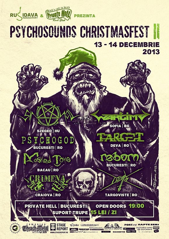 Psychosounds Christmas Fest in Private Hell Rock Club din Bucuresti