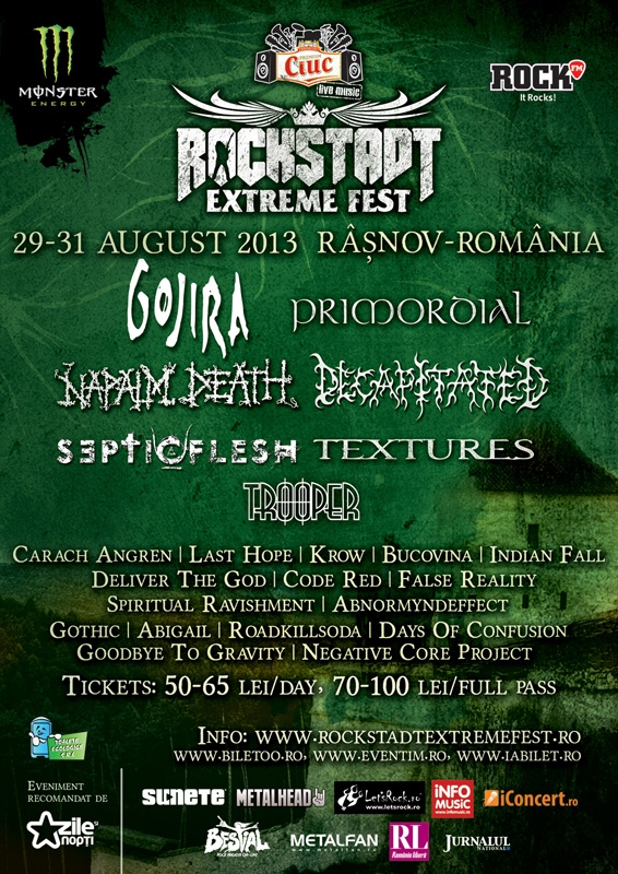 Rockstadt Extreme Fest – program, regulament de ordine interioara si regulament camping