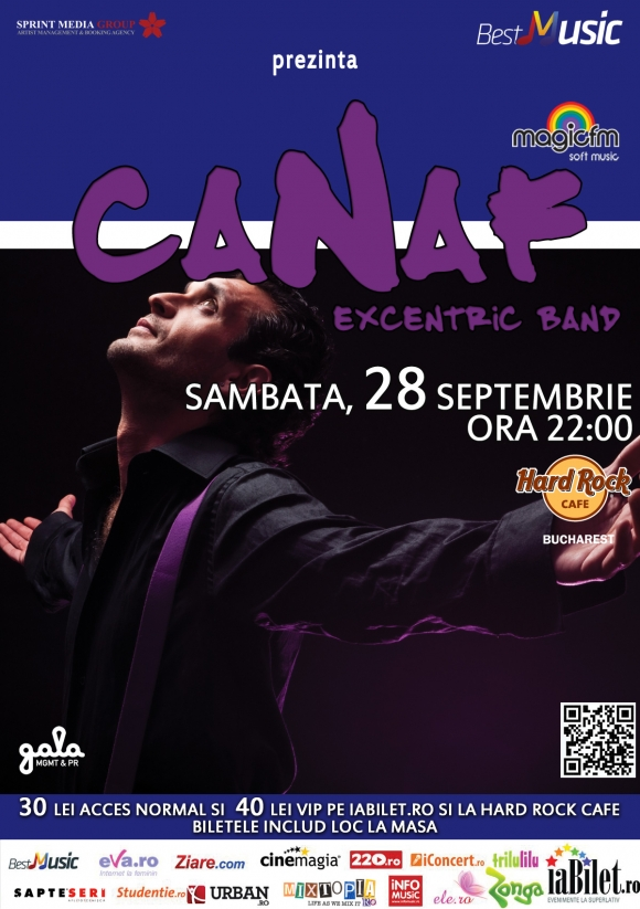 Canaf & Excentric Band concerteaza in Bucuresti