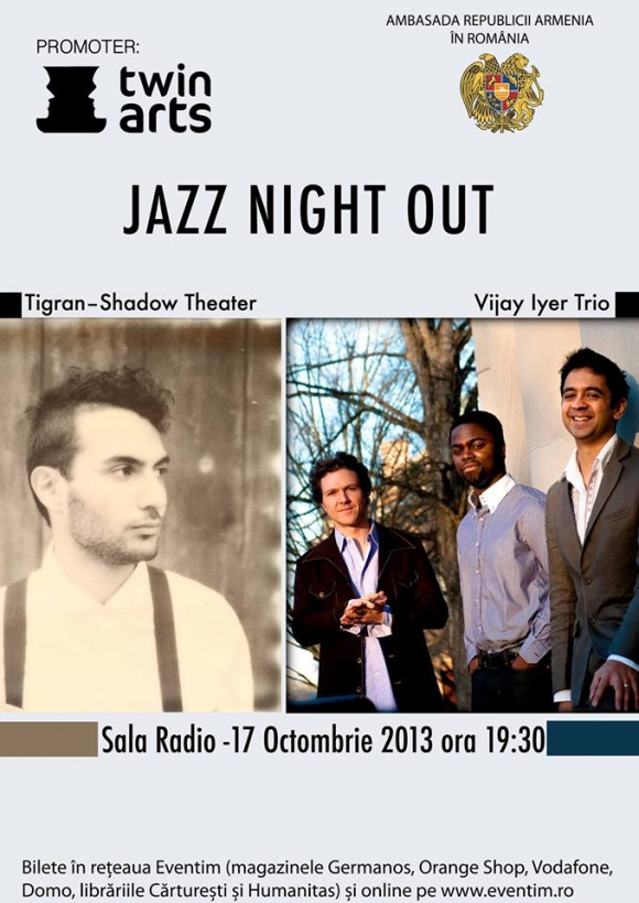 Tigran–Shadow Theater si Vijay Iyer Trio in concert la Sala Radio