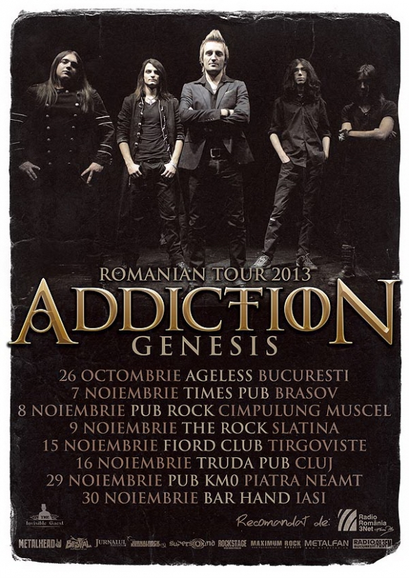 Addiction anunta trupele de deschidere din turneul 'Genesis'