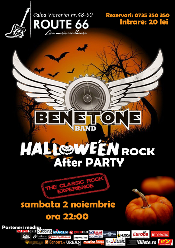 BENETONE Band in Halloween Rock Afterparty la Route 66