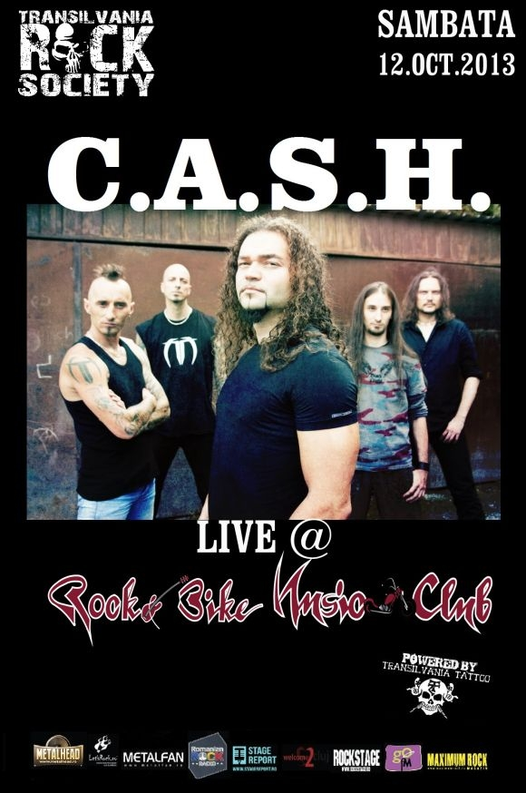 Concert C.A.S.H. in Rock&Bike Music Club Sibiu