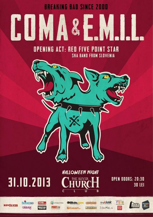 Concert COMA si E.M.I.L. in The Silver Church din Bucuresti