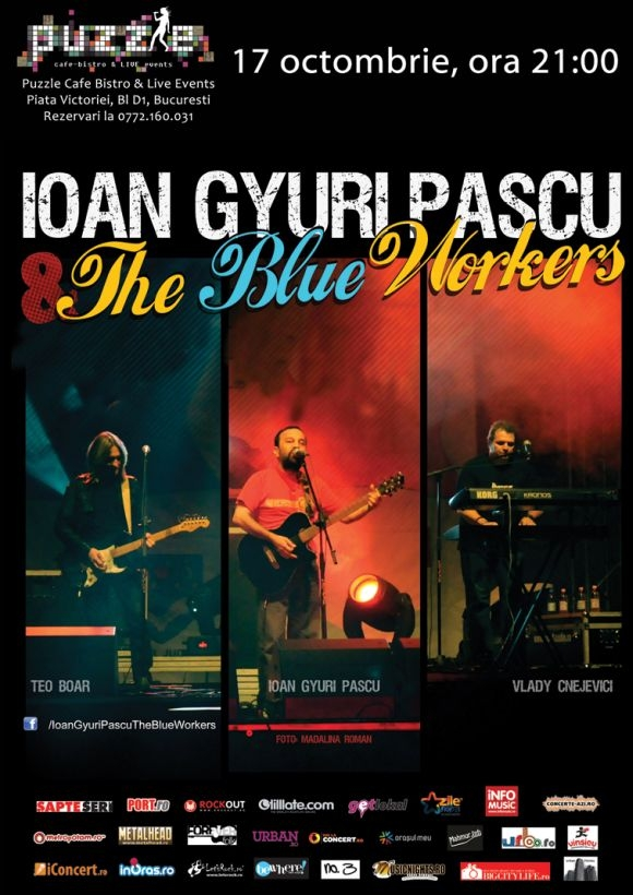 Concert Ioan Gyuri Pascu & The Blue Workers in Club Puzzle