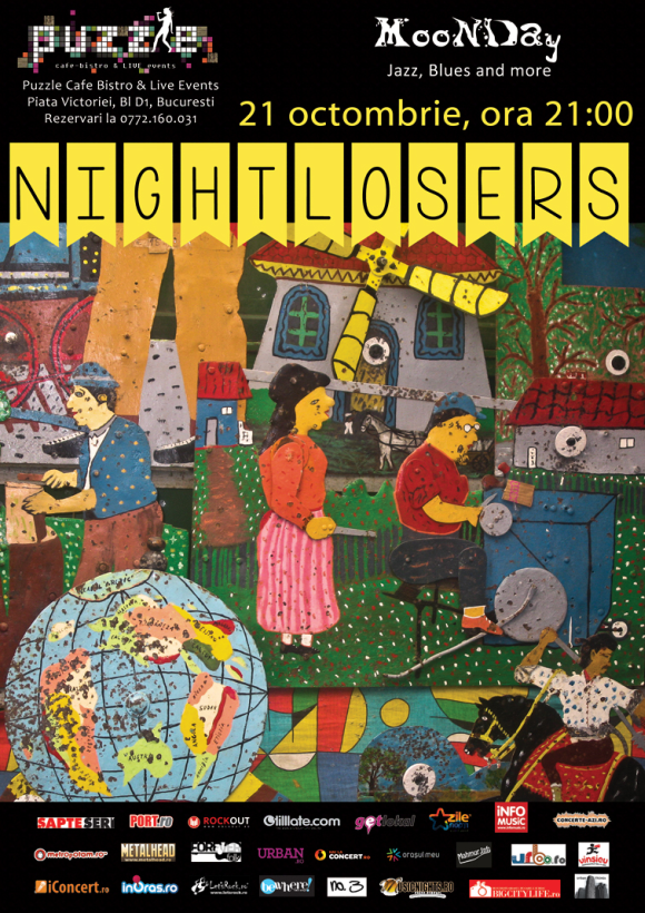 Concert Nightlosers la MooNDay Jazz, Blues and More in club Puzzle