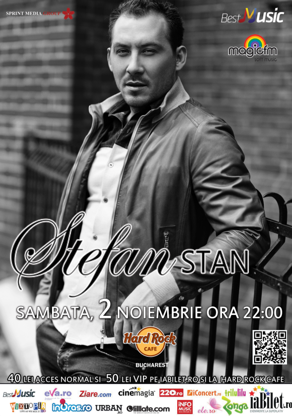 Concert Stefan Stan la Hard Rock Cafe din Bucuresti