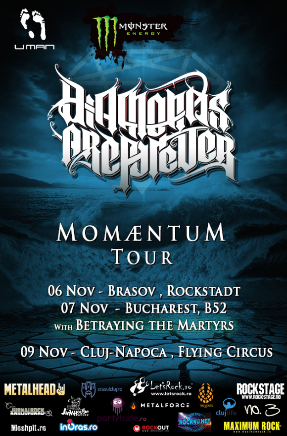 Concert Diamonds Are Forever si Betraying The Martyrs in Club Fabrica din Bucuresti